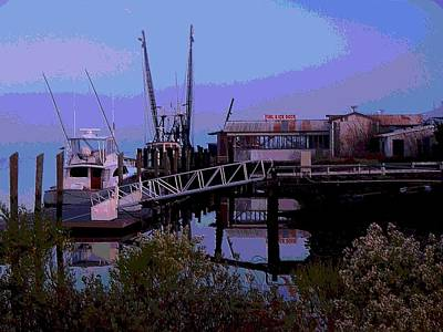 Art Print featuring the painting Old Brunswick Fuel Dock by Laura Ragland