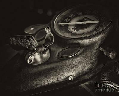 Fuel Tank Speedometer Ignition Switch Keys Art Print