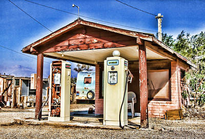 Photograph - Fueling In Keeler By Diana Sainz by Diana Raquel Sainz