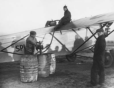 Excellence Photograph - Fueling The Splitdorf by Underwood Archives