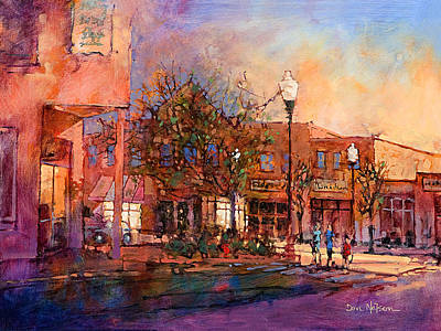 City Sunset Painting - Fuguay Varina Evening by Dan Nelson
