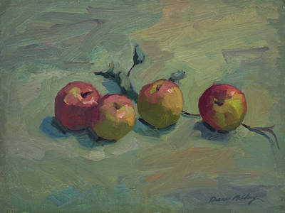 Painting - Fuji Apples by Diane McClary