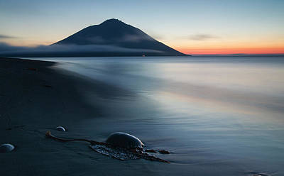 Mountain Sunset Photograph - Fuji Etorofu by Alexey Kharitonov