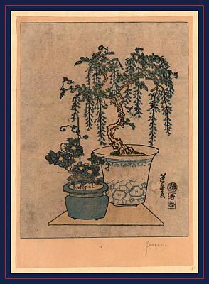 Fuji No Hachiue, Potted Wisteria. Between 1818 And 1844 Art Print by Eisen, Keisai (ikeda Yoshinobu) (1790-1848), Japanese
