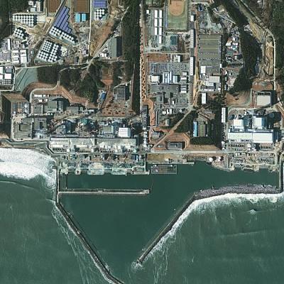 Fukushima Nuclear Power Plant, Japan Art Print by Science Photo Library