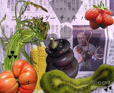 Strawberries Digital Art - Fukushima Veggies by Megan Dirsa-DuBois