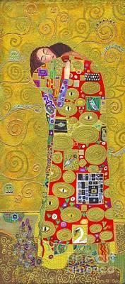 Fulfillment After Klimt Art Print by Kate Bedell