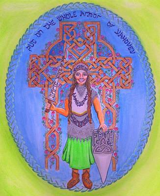 Painting - Full Armor Of Yhwh Woman by Hidden  Mountain