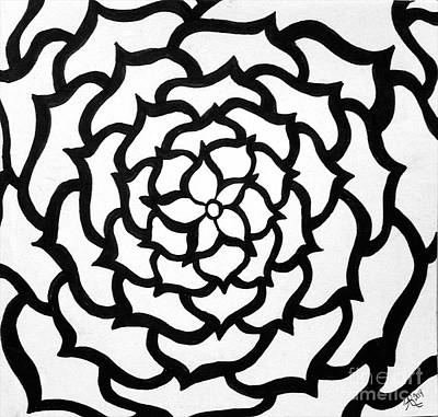 Drawing - Full Bloom I I by Anita Lewis