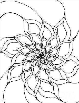 Drawing - Full Bloom IIi by Anita Lewis