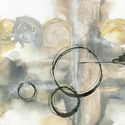 Black Ink Lines Painting - Full Circle II by Chris Paschke