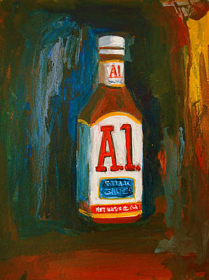 Painting - Full Flavored - A.1 Steak Sauce by Patricia Awapara