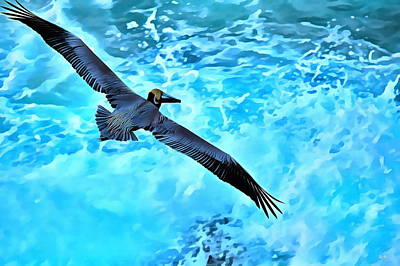 Pacific Drawing - Full Flight by Russ Harris
