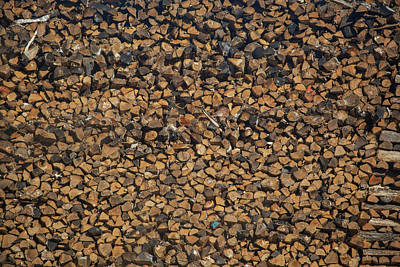 Full Frame Shot Of Firewood Pile Art Print by Panoramic Images