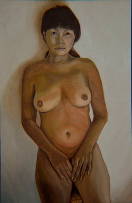 Frontal Nude Painting - Full Frontal Well Almost by Thu Nguyen