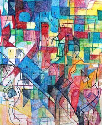 Creativity Drawing - Devaikus 1 by David Baruch Wolk