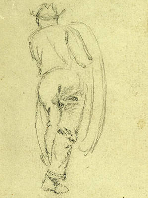 Rear View Drawing - Full Length Rear View Of Man, Between 1860 And 1865 by Quint Lox
