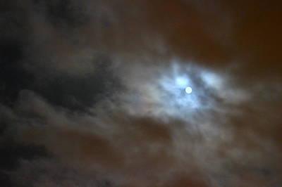 Pop Art - Full Moon and Dark Clouds by Bishopston Fine Art