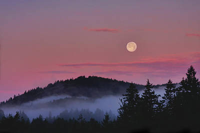 Full Moon At Dawn Art Print by Peggy Collins