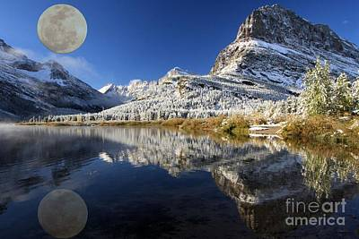 Photograph - Full Moon At Grinnell by Adam Jewell
