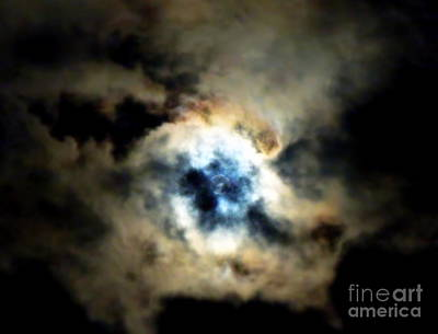 Photograph - Full Moon Behind The Clouds by Renee Trenholm