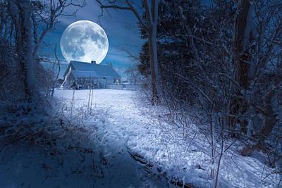 Full Moon Original by Dapixara Art