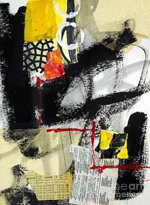 Abstraction Mixed Media - Full Moon by Elena Nosyreva