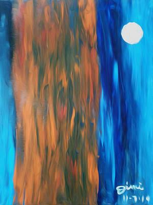 Wall Art - Painting - Full Moon In Denver V2 by Jimi Bush