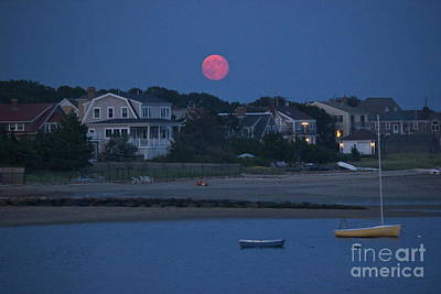 Photograph - Full Moon In Hyannis by Amazing Jules
