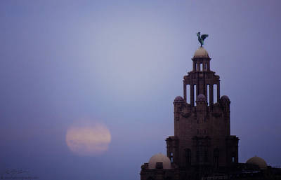 Photograph - Full Moon In Liverpool by Beverly Cash