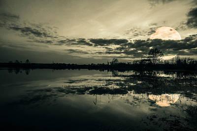 Evening Digital Art - Full Moon by Jaroslaw Grudzinski