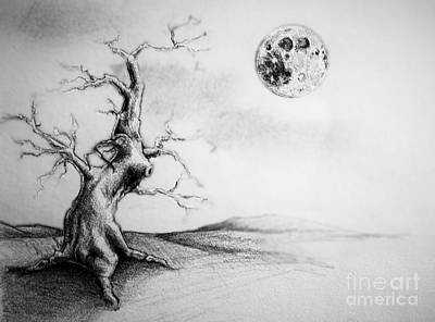 Full Moon Art Print by Jeff  Blevins