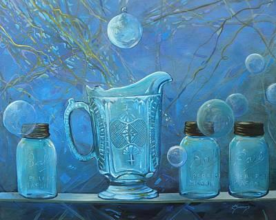 Full Moon Light Art Print by Lynne Summers