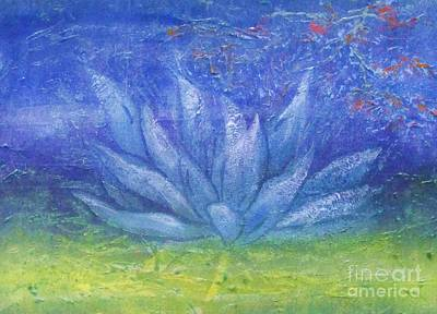 Lotus Leaves Painting - Full Moon Lotus by Beth Fischer