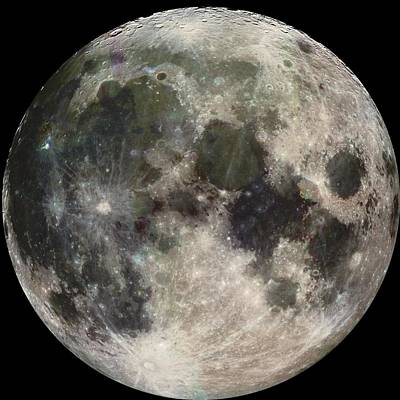 Photograph - Full Moon by Celestial Images