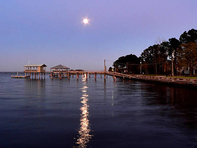 Photograph - Full Moon On The Bay by Kathy K McClellan