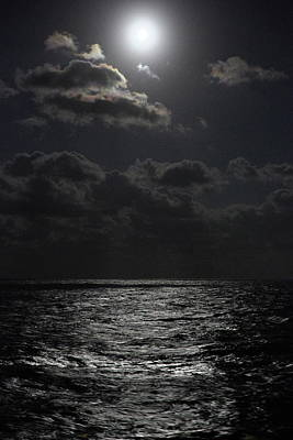 Photograph - Full Moon On The Ocean by C5530