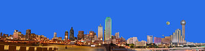 Photograph - Full Moon Over Dallas by Jim Martin
