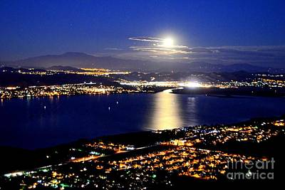 Photograph - Full Moon Over Elsinore by Third Eye Perspectives Photographic Fine Art