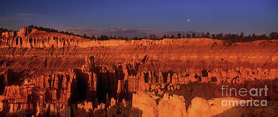 Photograph - Full Moon Over Hoodooos Bryce Canyon National Park Utah by Dave Welling