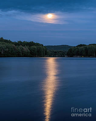 Photograph - Full Moon Over Locke Lake by Sharon Seaward