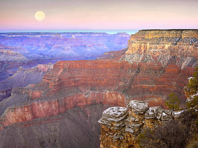 Photograph - Full Moon Over The Grand Canyon by Tim Fitzharris