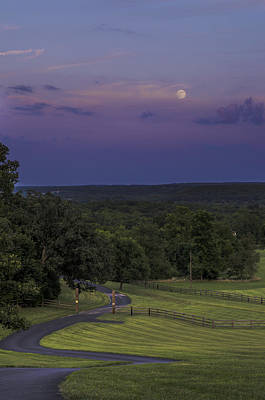 Kim Fearheiley Photography - Full Moon over the Ozarks by Kevin  Whitworth