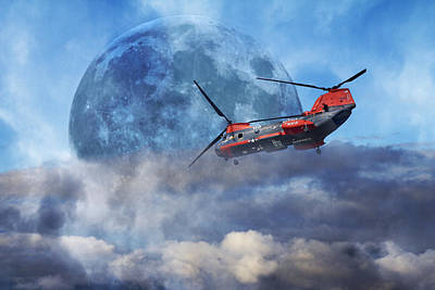 Full Moon Rescue Art Print by Betsy Knapp