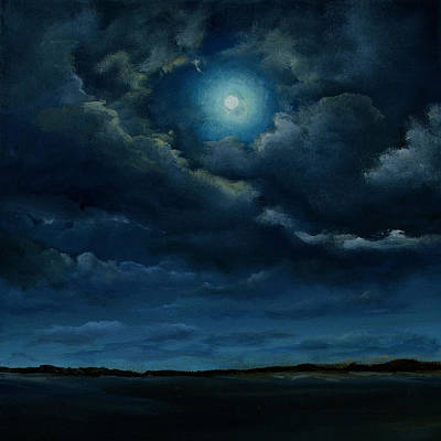 Painting - Full Moon by Ric Nagualero