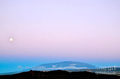 Photograph - Full Moon Rising Over Mauna Kea Kona Side by Lehua Pekelo-Stearns