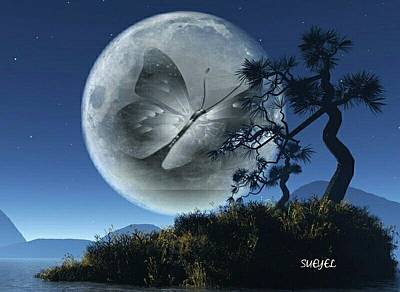 Digital Art - Full Moon by Sueyel Grace