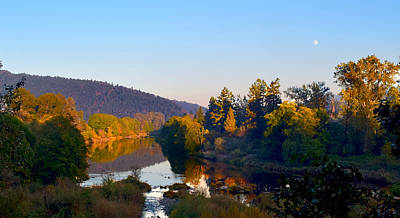 Photograph - Full Moon Sunset Over The Umpqua by Michele Avanti