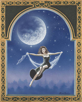Full Moon Swing Art Print by Nickie Bradley