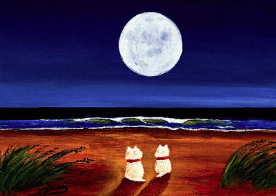 Seagrass Painting - Full Moon by Todd Young